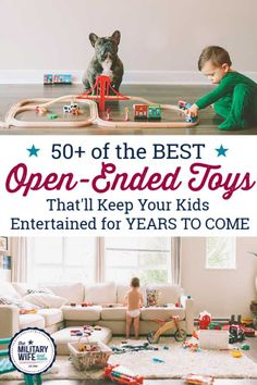 Oct 19, 2019 - Inspire your child's imagination and creativity with these open ended toys that last for years! Open ended toys encourage problem-solving, self-regulation..