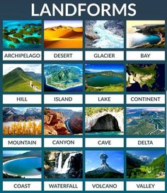 Education Discover Types of Landforms Learn English For Free Learn English Words Learn English Grammar English Language Learning English Vocabulary English Course English Fun English Study English Lessons Hello English App, English Fun, English Writing, English Study, English Lessons, Travel English, English Course, Learn English Grammar, English Vocabulary Words