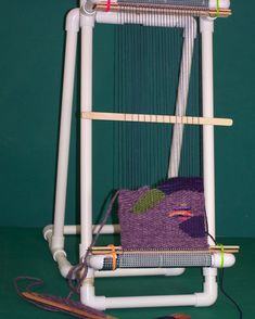 tapestry loom - book for how to build the loom and using it:  http://www.etsy.com/listing/84200101/copperloom-weaving-book