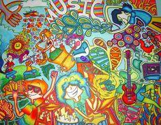 Music Mural by WardensPetHufferFish.deviantart.com on @deviantART