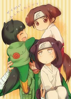 Tags: Fanart, NARUTO, Rock Lee, Pixiv, Hyuuga Neji, Tenten, Might Guy, Fanart From Pixiv, Team 9, Pixiv Id 304181