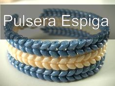 Abalorios Manualidades - Pulsera Espiga con Superduo - YouTube... yes it's NOT in English, but it's really easy to follow along.