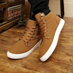 5fe99b0d3c0d Hot Men Shoes Sapatos Tenis Masculino Male Fashion Autumn Winter Leather  Fur Boots For Man Casual High Top Canvas Men Shoes