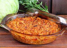 Varza cu ciuperci si carne la cuptor Dukan Diet, Salsa, Grilling, Grains, Food And Drink, Cooking Recipes, Vegetables, Eat, Ethnic Recipes