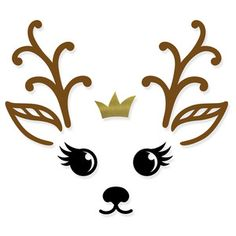 Silhouette Design Store - Product ID Ornament Crafts, Christmas Crafts, Christmas Decorations, Christmas Ornaments, Christmas Clipart, Christmas Printables, Easy Christmas Drawings, Reindeer Face, Silhouette Design