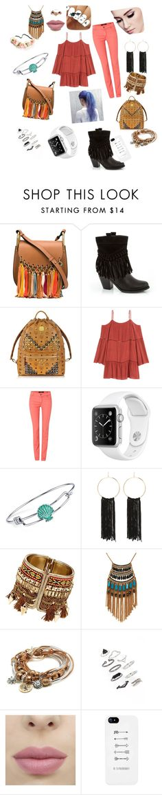 """""""Fringe it up"""" by kristen-cooley on Polyvore featuring Chloé, Rasolli, MCM, Oui, Disney, Bebe, Leslie Danzis, Lizzy James and Topshop"""
