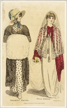 White muffs for both walking and full dress. 1805