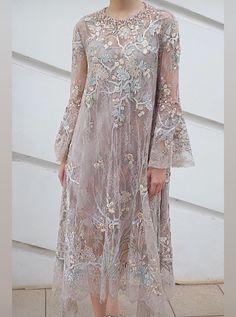 Dress Brokat Muslim, Dress Brokat Modern, Kebaya Modern Dress, Kebaya Lace, Kebaya Dress, Dress Pesta, Kebaya Hijab, Hijab Evening Dress, Hijab Dress Party