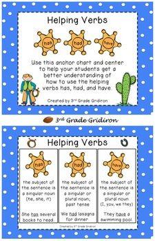 {freebie} teach helping verbs with this cute freebie I found:)