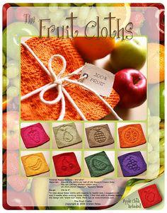 Ravelry: Fruit Cloths pattern by Kris Knits Dishcloth Knitting Patterns, Crochet Dishcloths, Knitting Yarn, Knit Patterns, Clothing Patterns, Knitting Stitches, Crochet Cross, Knit Crochet, Crochet Angels