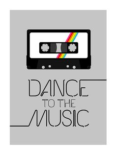 This one, too. Retro poster print  Dance To The Music 2  A3 retro by yumalum, $29.00