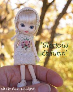 """Glorious Autumn"" made for teeny tiny 4"" Amelia Thimble dolls, cindyricedesigns.com"