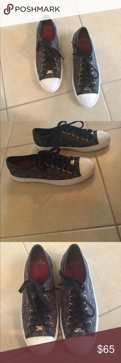 NWOT Coach Authentic Shoes Women's size 8.5 Black Coach Empire Women's Signature Sneakers Shoes, never been worn, brand new with black laces Coach Shoes Sneakers