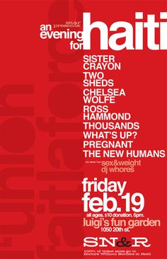 SN Event Posters by Miles Harley, via Behance