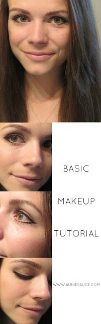 Basic Makeup Tutorial featuring tips for winged eyeliner & a semi-smoky eye!