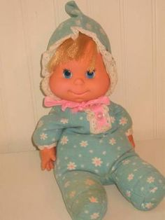 Mattel Baby Beans Vintage 1970 Talking Cloth Doll    O! M! G!  I cant believe I found this doll... You all Had one..
