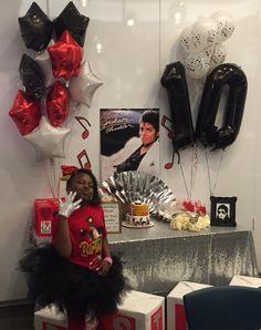 10th Birthday Parties, 7th Birthday, Birthday Party Themes, Michael Jackson Party, Michael Jackson Thriller, Dj Party, Movie Party, Michael Jackson Merchandise, Construction Party