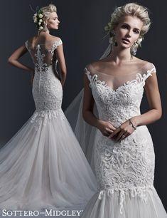 95db84cb4 Lace Mermaid Wedding Dress Lace Mermaid Wedding Dress, Lace Dress, Maggie  Sottero, Lace