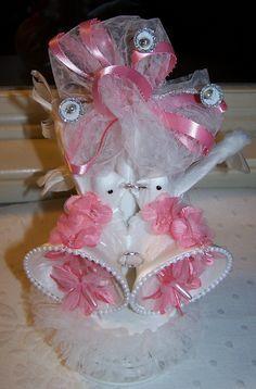 Vintage Wedding Cake Topper Doves and Bells