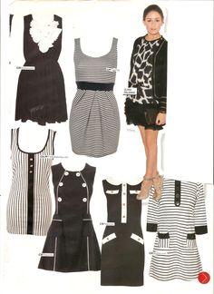 Monochrome Dresses for More! Magaizne featuring Olivia Palmero