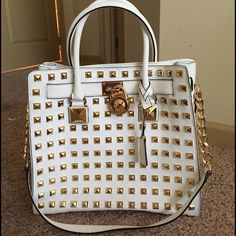 Michael Kors Studded Hamilton Super rare bag! I'm not even sure if I would like to sell it yet. I'm just trying to see what kind of offers it would get me. TRADE VALUE - $700 Michael Kors Bags
