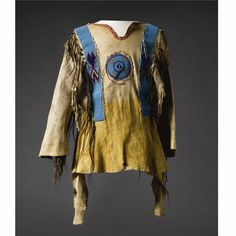 A Blackfoot Beaded and Fringed Hide Man's Wearing Shirt | Lot | Sotheby's