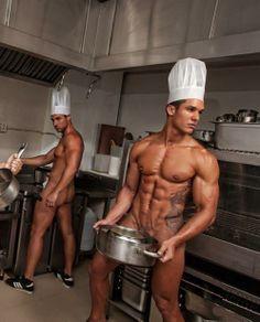 cooking naked men gay