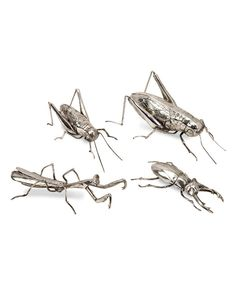 Look at this Butera Chrome Insect Décor Set on #zulily today!