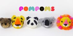 How to make animal pom-poms - Mr Printables Blog