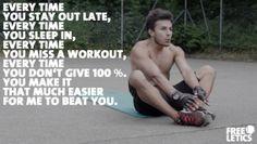 Its so easy for me to beat ya all, haa!!! ;) #freeletics #gym #ilovethepain