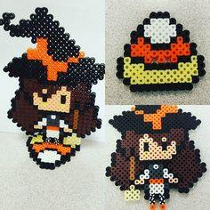 Halloween Marisa Kirisame – Touhou perler beads by japanda.co