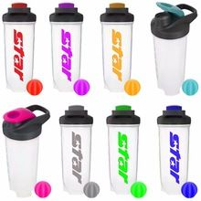 [Outdoor Sports] 2017 New Design 700ml/24oz Custom PP Protein Shaker Bottle with Plastic Ball