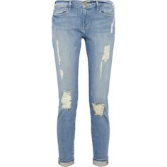 Frame Denim Le Garcon distressed slim boyfriend jeans found on Polyvore