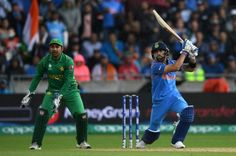 Virat Kohli of India bats during the ICC Champions Trophy match between India and Pakistan at Edgbaston on June 2017 in Birmingham, England. Icc Cricket, Cricket News, Today Latest News, News Today, India Vs Pakistan, Global Tv, Asia Cup, Cricket Wallpapers, Champions Trophy