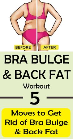BRA BULGE & BACK FAT Workout: 5 Moves to Get Rid of Bra Fat #health #beauty #fat #weight #loss #lose #bra