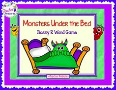 """If you are looking for a game that is never boring- this is it! Students try not to """"find a monster"""" under the bed while learning about R-Controlled vowels. pages) Bossy R cards + """"special"""" cards= 99 cards © Teacher Features First Year Teaching, Teaching Ideas, Creative Teaching, Student Teaching, Monster Under The Bed, R Words, Second Grade Math, Interactive Learning, Phonics Activities"""