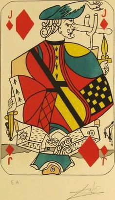 jack of diamonds, salvador dali