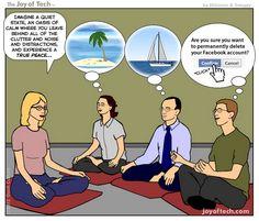 Meditation para reir, cada cabeza un mundo