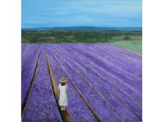 Lavender Field - Artist: Robert Harris.  Most of my inspiration to paint comes from the landscape of southern England. My Art Education qualifications are Higher Certificate in Fine Art. BA (Hons) Fine Art ValuationOriginal Art from West Country Galleries