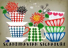 Scandinavian Signature-limited edition art print via Etsy Art And Illustration, Food Illustrations, Art Surf, Art Scandinave, Pop Art, Decoupage, Style Retro, Kitchen Art, Scandinavian Design