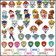 Paw Patrol SVG Clipart Bundle SVG For Cricut Printable Chase | Etsy Silhouette America, Livingston, Cricut, Paw Patrol Badge, Printed Magnets, Banner, Graphic Design Print, Arts And Crafts Projects, Vintage Pictures