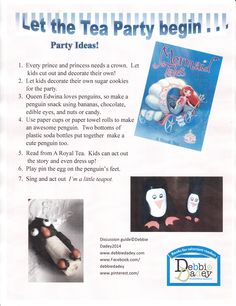 Party ideas for A Royal Tea (Mermaid Tales #9 from Simon and Schuster) by author Debbie Dadey www.debbiedadey.com
