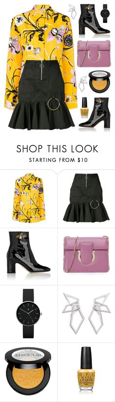 """Street style"" by cly88 ❤ liked on Polyvore featuring Emilio Pucci, Marques'Almeida, Gucci, Salvatore Ferragamo, Newgate, W. Britt, Sephora Collection and OPI"