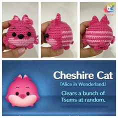 This pattern is available only in English language. For those who love cute things, Tsum Tsum Chesire Cat amigurumi is at the perfect size to hold on your palm or attach on your bag to be your traveling companion. Format: PDF document of 8 pages with detailed instructions. Finished
