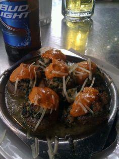 Super-stuffed creole mushrooms. -N'awlins