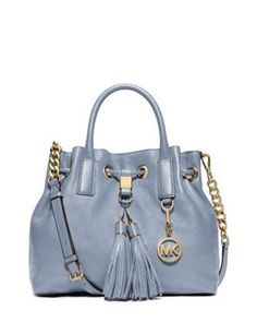 This modern handbag is is completed with gorgeous leather that composes this carefree carryall decked out in custom hardware. Spacious with an impeccably organized interior. By MICHAEL Michael Kors. Double handles with 4 Michael Kors Satchel, Handbags Michael Kors, Handbags On Sale, Purses And Handbags, Blue Handbags, Celine, Michael Kors Outlet, Beautiful Handbags, Michael Kors Hamilton