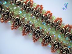 Iris' Perlen: Armband in Herbstfarben