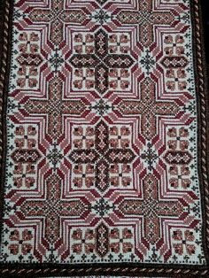 Embroidery Sampler, Cross Stitch Embroidery, Cross Stitch Patterns, Stitch 2, Bohemian Rug, Diy And Crafts, Rugs, Antiques, Handmade