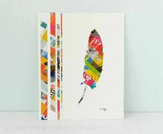 Recycled Junk Mail Feather Art: Grow Creative