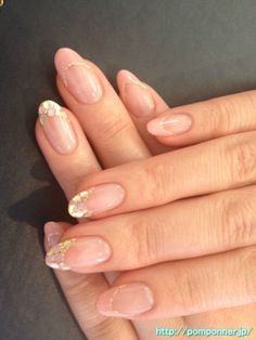 French pastel nail glitter hologram パステルカラーのキラキラホロフレンチネイル